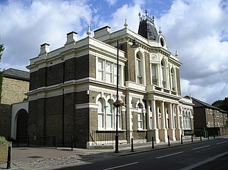Municipal Borough of Walthamstow - The old town hall in Orford Road