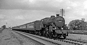 Syston and Peterborough Railway - Midland holiday express to Great Yarmouth at Walton in 1959
