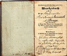 Wanderbuch journeyman furrier Bennewitz from Wurzen 01.jpg