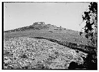War views of Neby Samuel (Mizpah). Neby Samuel from the British trenches LOC matpc.08136.jpg