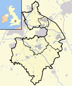 Warwickshire outline map with UK.png