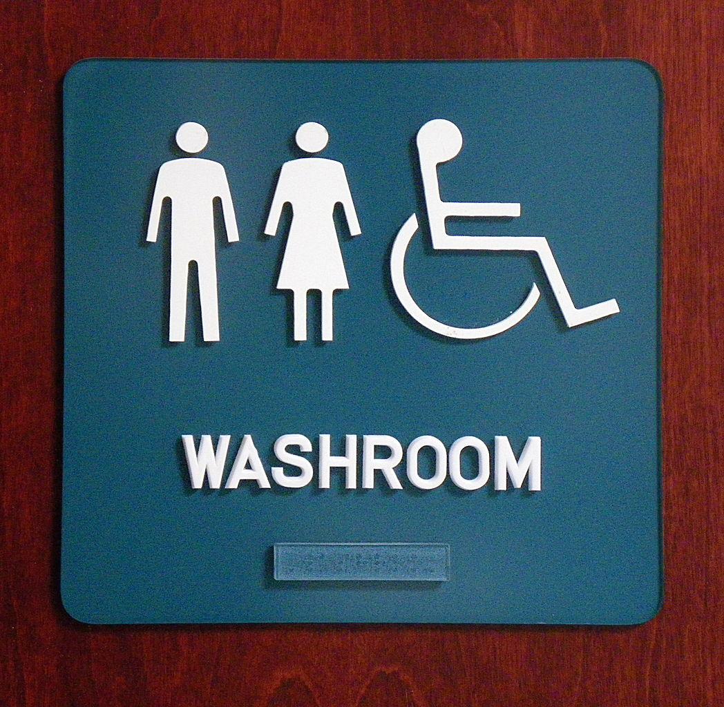 File washroom pictogram sign with wikimedia for Washroom photo