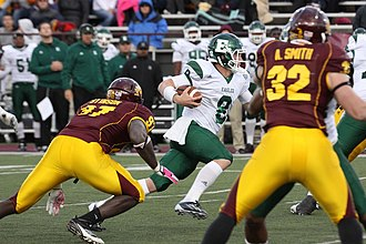 2011 Eastern Michigan Eagles football team - Alex Gillett ran 30 yards up the middle for a game-winning touchdown with 37 seconds remaining.