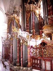 Weingarten Basilika Gabler-Orgel von Empore