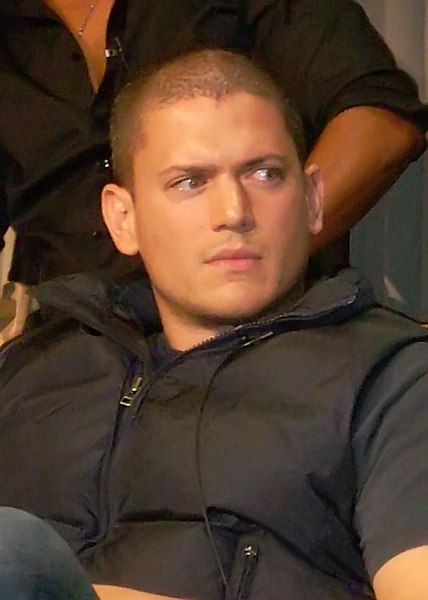 Wentworth Miller with a very cool short buzz haircut