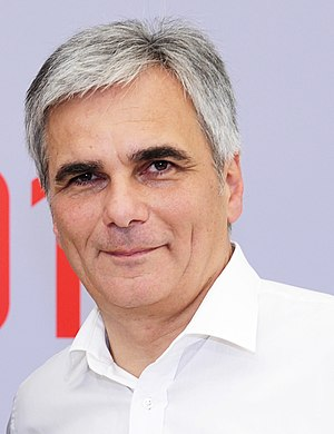 Austrian legislative election, 2013 - Image: Werner Faymann in Freistadt (9526930656) (cropped)