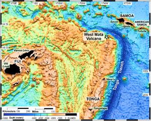 West Mata - Location of West Mata