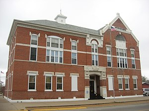 Carmi, Illinois - White County Courthouse, downtown