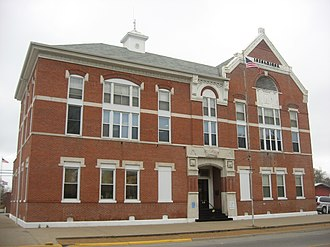 Carmi, Illinois - White County Courthouse in downtown Carmi