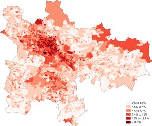 Demography of Glasgow - Image: White Other British Glasgow 2011 census