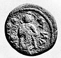Whitehead Coins of the Punjab Museum Plate XVIII Kanishka Buddha coin.jpg