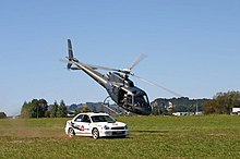 Helicopter vs Rally car race