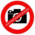 Wikimania 2014 No photos name badge sticker.jpg