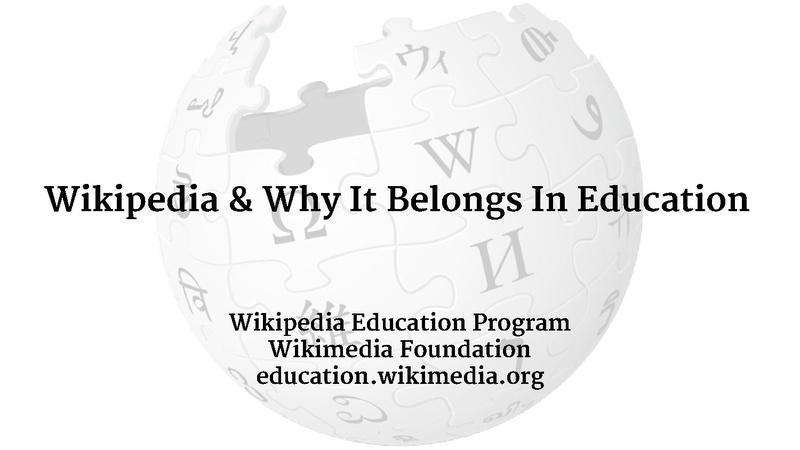 File:Wikipedia & Why It Belongs In Education -- depersonalized.pdf