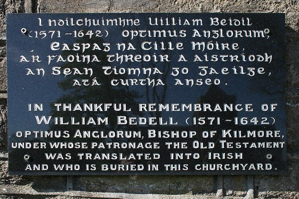 William Bedell plaque, Kilmore, County Cavan