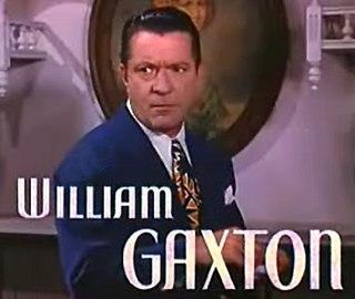 William Gaxton American actor