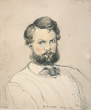 William Gilbert Rees - Self-portrait from July 1853