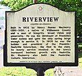 Williamson County Historical Society Marker for Riverview (Henry H. Mayberry House).JPG