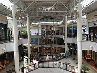 Willow Grove Park Mall - Third floor of the mall looking toward Primark