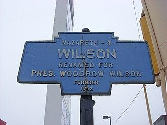 Wilson, Pennsylvania - Image: Wilson, PA Keystone Marker