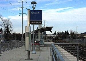 Wilsonville Station - Completed platform