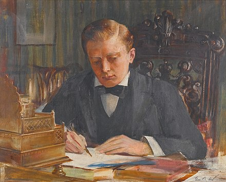 A painting of the young Churchill by Edwin Arthur Ward Winston Churchill as a young man, by Edwin Arthur Ward (1859 - 1933).jpg