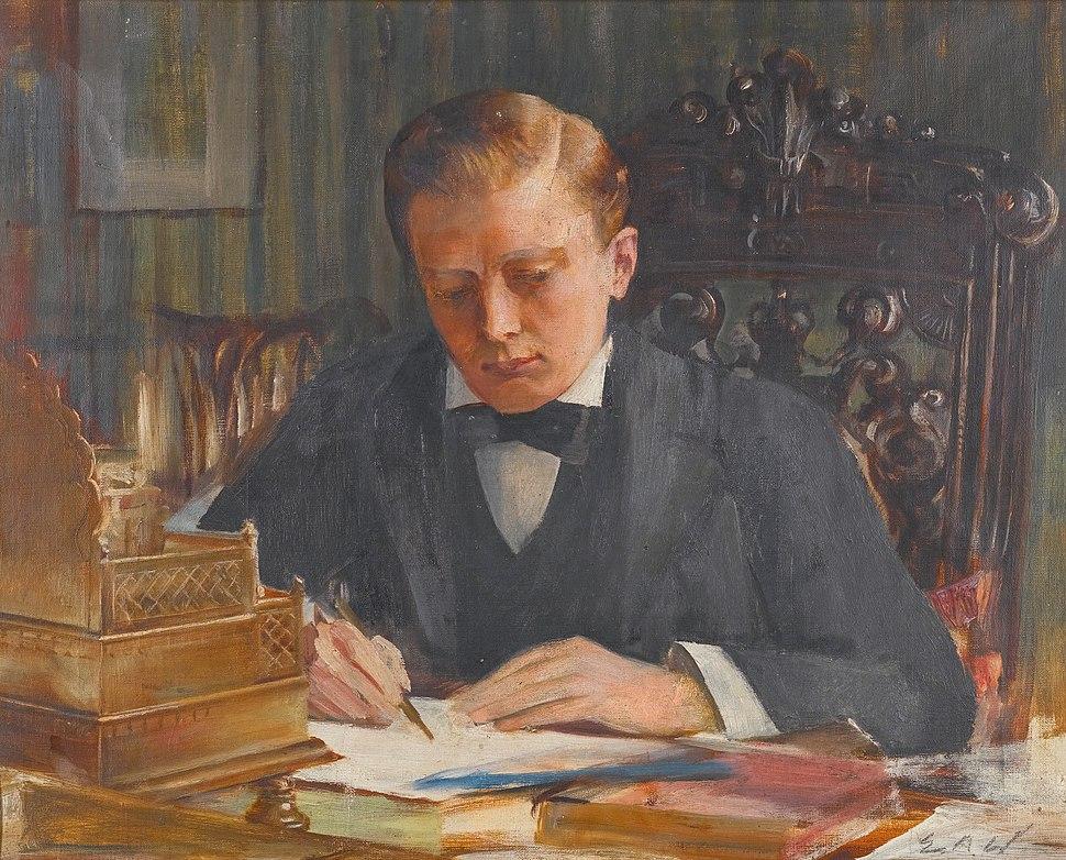 Winston Churchill as a young man, by Edwin Arthur Ward (1859 - 1933)