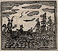 Witchcraft; a ship being confronted by a sea-devil (?). Wood Wellcome V0025812EBR.jpg