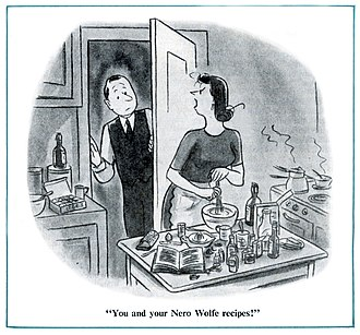 Nero Wolfe - Cartoon by Stan Hunt for The American Magazine (June 1949)