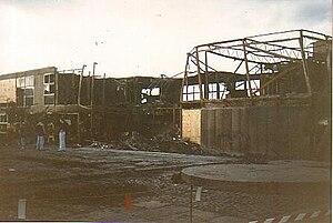 Woodham Academy - Image: Woodham CTC Auckland Fire Damage