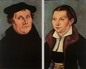 Clerical marriage - Marriage reform: cleric Martin Luther married Katharina von Bora in 1525