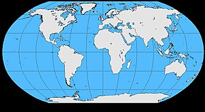 International Association of Sound and Audiovisual Archives - Image: World map