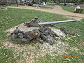 Wrecked small japanese artillery from ww2.JPG