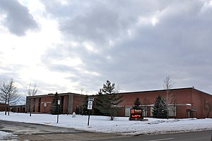 Wyoming, Michigan - A photo of Roger's High School, now named Wyoming High School.