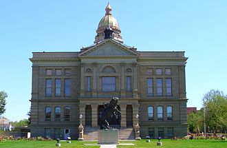 Wyoming State Capitol - Image: Wyoming State Capitol west facade