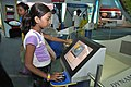 Young Visitor Studying Earths Rotation - Earth Exploration Hall - Science City - Kolkata 2010-06-25 6272.JPG