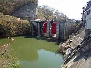 Yukawa Dam Dam in Nagano Prefecture, Japan