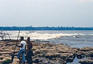 Boyoma Falls - Seventh cataract of Boyoma/Stanley Falls near Kisangani