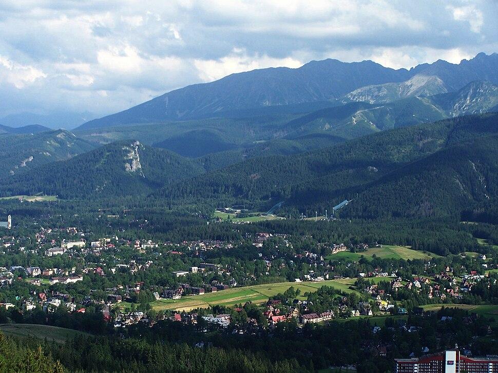 View of Zakopane from Butorowy Wierch