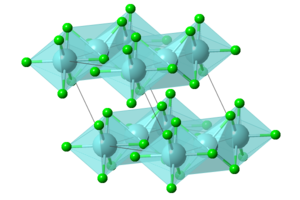 Zirconium(III) chloride - Image: Zr Cl 3 polyhedral