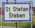 Zweisprachige Ortstafel Sankt Stefan.JPG