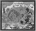 """Rustam's First Course- Rakhsh Kills a Lion"", Folio from a Shahnama (Book of Kings) MET 47061.jpg"