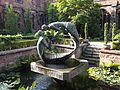 """The Water of Life"" sculpture in Chester Cathedral cloister garth (5).JPG"