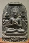 'Buddha's First Sermon', chlorite statue from India, Pala dynasty, 11th century, Honolulu Academy of Arts.JPG