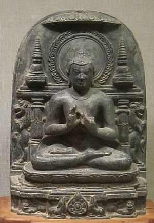 Buddhacarita - Buddha's First Sermon', India, 11th century