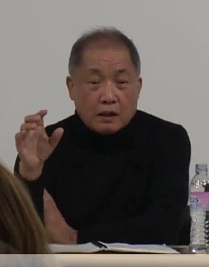 Mitsuo Yanagimachi - Image: (싹튜브) 일본 영화계의 거장! 카뮈따윈몰라 야나기마치 미츠오 감독이 방송제작학과에 왔다~!