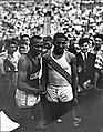 (Jesse Owens and Ralph Metcalfe at the 1936 Randall's Island Olympic trials, New York, NY) - Flickr - SMU Libraries Digital Collections.jpg