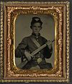 (Unidentified young soldier in Union uniform with rifle musket) (LOC) (14378985158).jpg