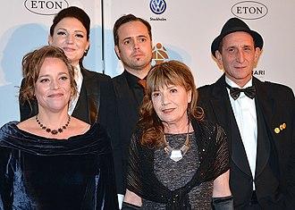 Eat Sleep Die - The cast and crew of Eat Sleep Die at the 48th Guldbagge Awards. Back row: Gabriela Pichler, Johan Lundborg, Milan Dragišić. Front row: China Åhlander, Ružica Pichler.