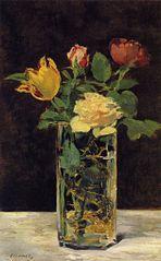 Rosen und Tulpen in einer Vase